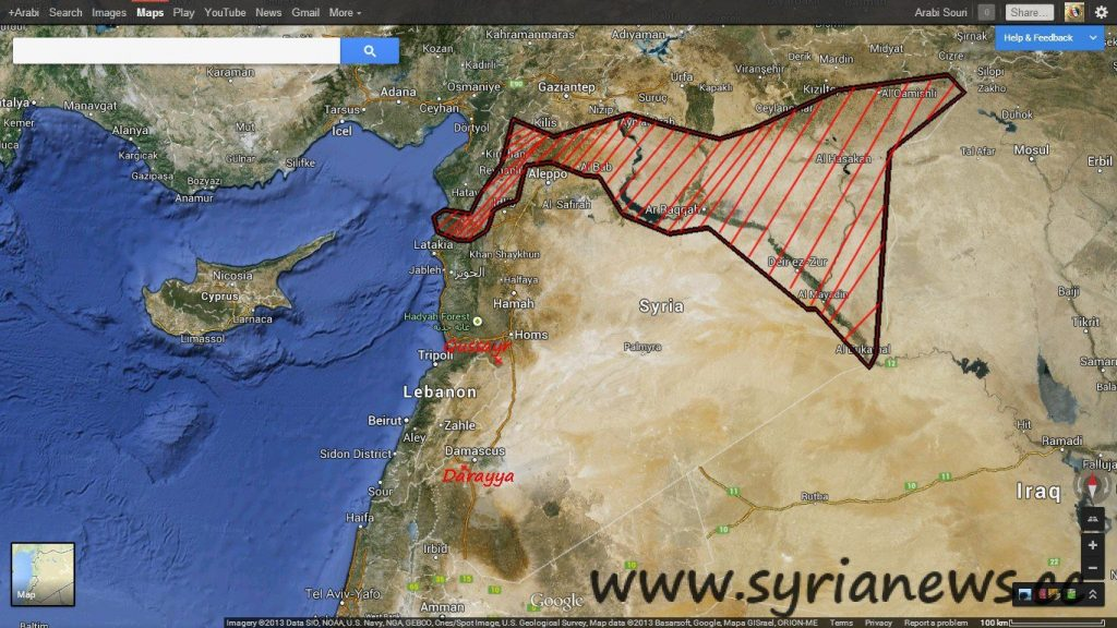 Syria lavrov kerry talk syria conference france syria news syrian map showing fsas main concentration locations gumiabroncs Image collections