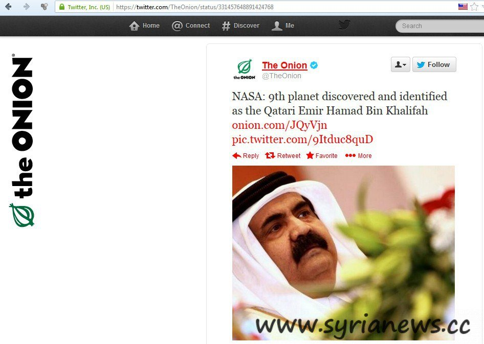 Hamad Ben Khalifa, Owner of Qatar Gas Station funding terrorists worldwide the universe's 9th star