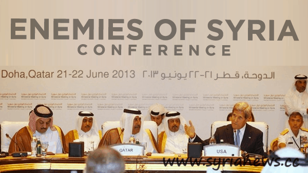 Enemies of Syria latest conference - Image by Syria Report