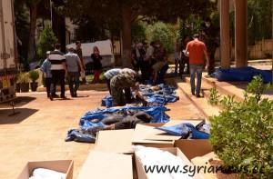 Massacre in Khan al-Assal (Source: SANA)