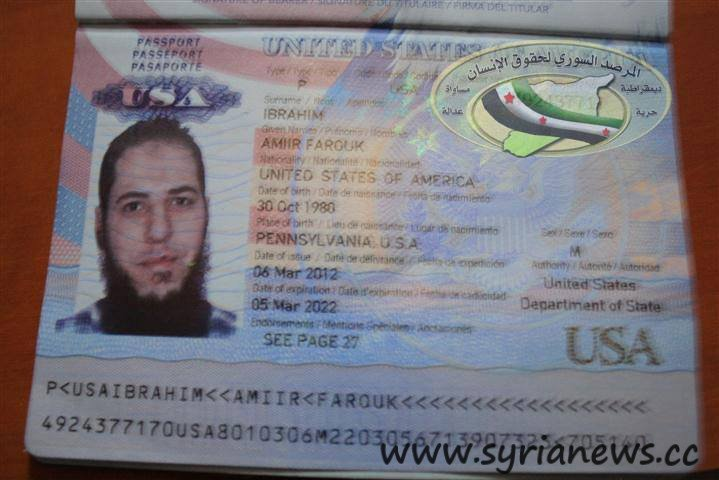 Syria Us Passport Found In Al Qaeda Base Syria News
