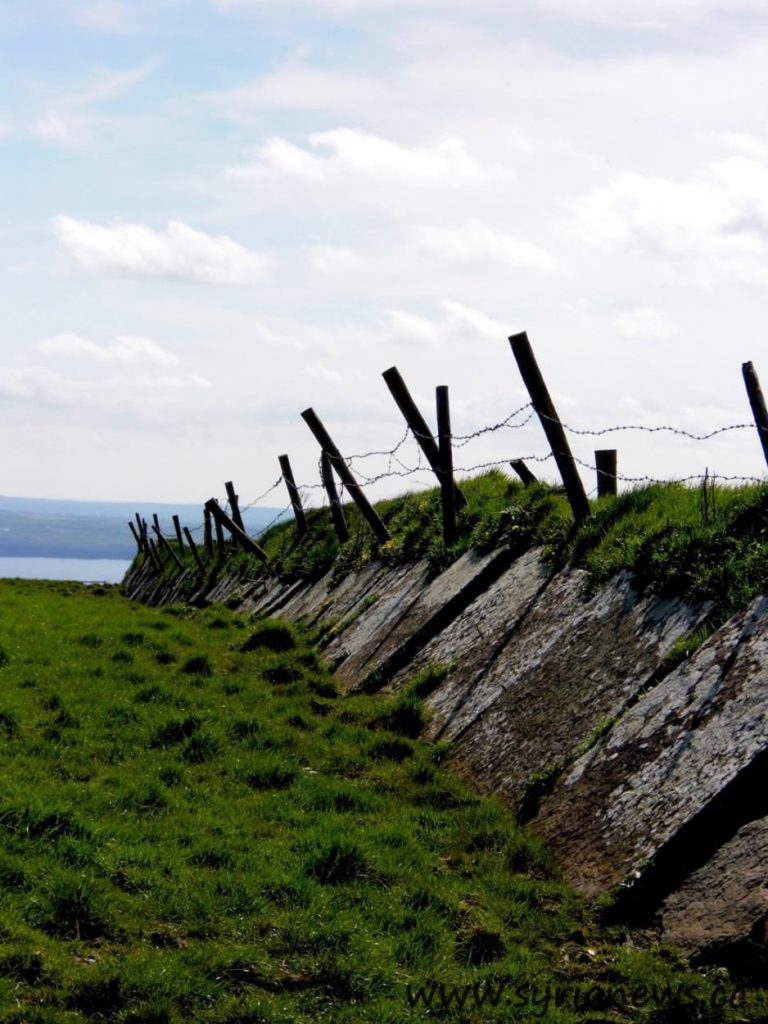 Ireland, Galway, Cliffs, Fence