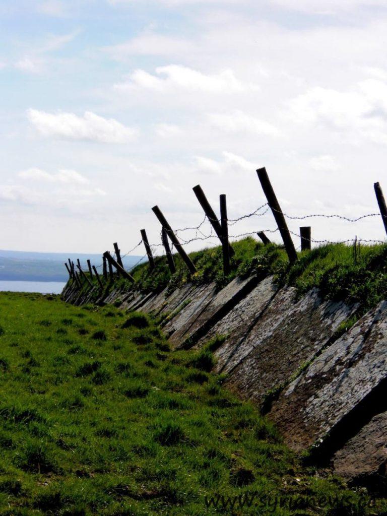 Ireland, Galway, Cliffs, Fence