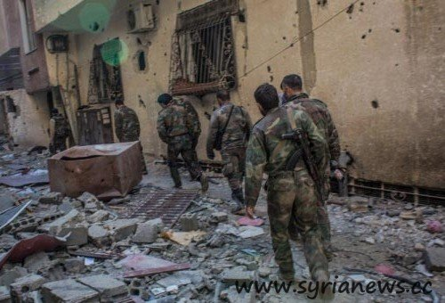 Syrian Army discovers Saudi-made Chemical Containers (Source: FNA)