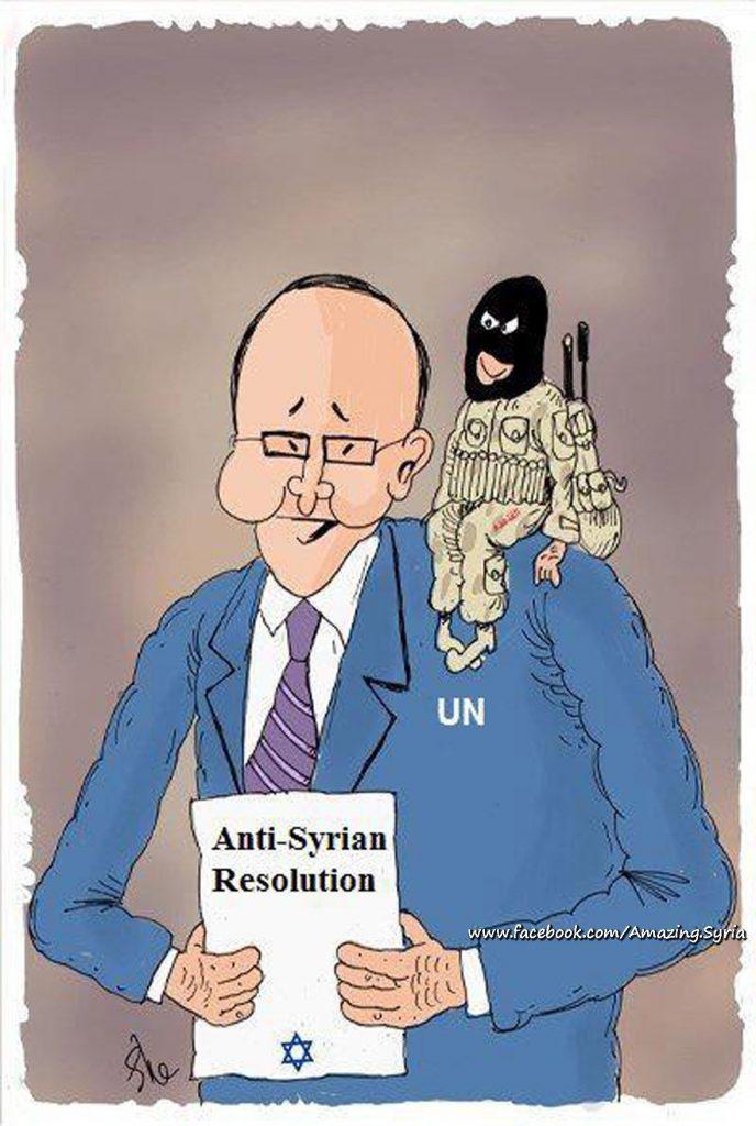 Afbeeldingsresultaat voor the chemical hoax in Idlib cartoon