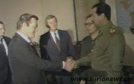 Rumsfeld and Saddam.