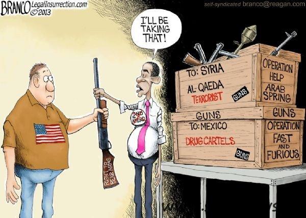 Obama regime handling of weapons