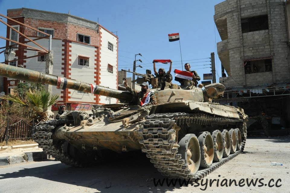 SAA Tank with Flag Syria: The Terrorists Mincer