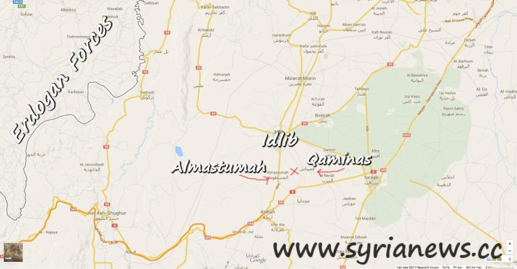Qaminas and Almastumah in Idlib countryside