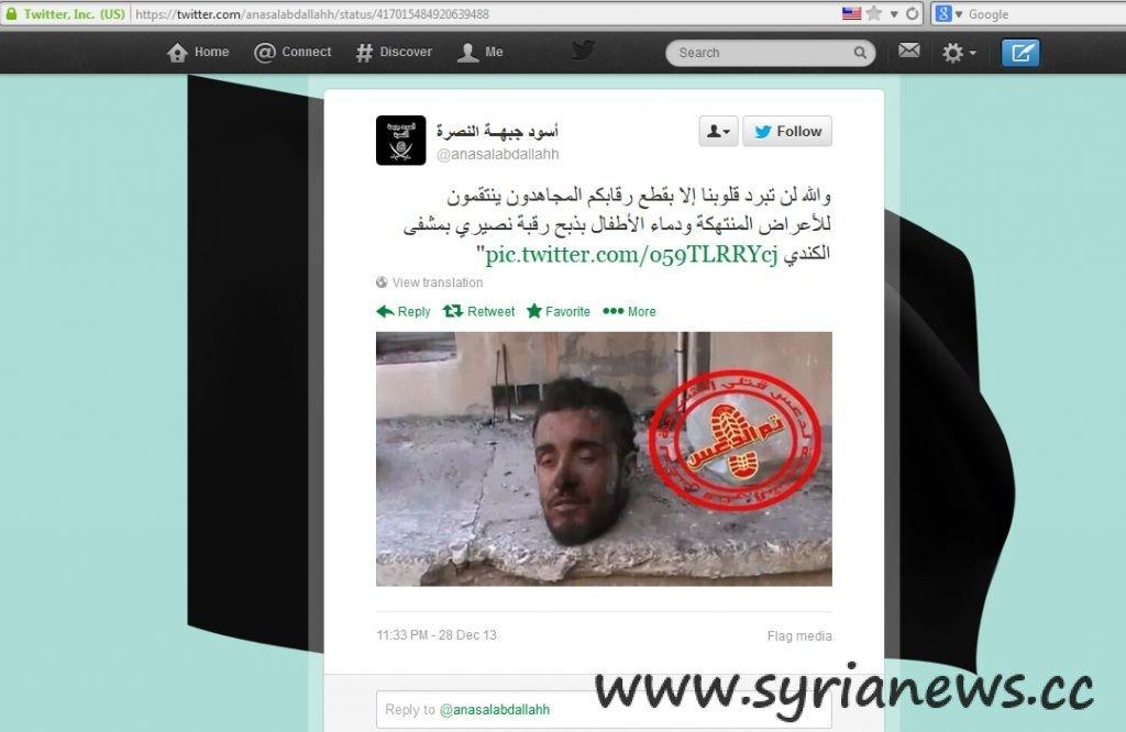 Al Qaeda Twitter Wahhabis in Syria GRAPHIC