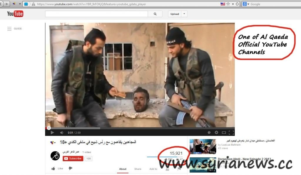 YouTube Nusra Wahhabis in Syria GRAPHIC