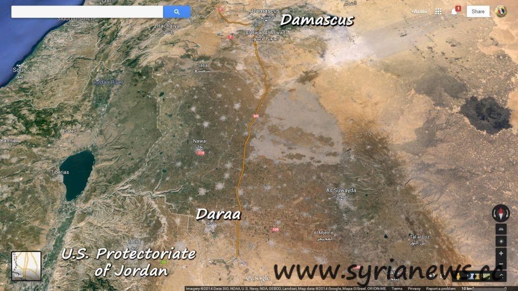 Daraa Map Another Humanitarian Crime in Daraa by Obama Thugs