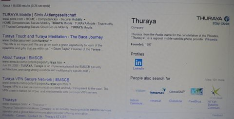 """As for the criminal traffickers of Syrians and the criminals illegally entering Syria, and their subtle advertising of T[h]uraya, the mystery of the relationship of these companies, has finallly been solved, in the same fashion that Edgar Allen Poe's Inspector Dupin found """"The Purloined Letter."""" It is in plain sight:"""