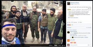 "Mahmoud Rslan, WH humanitarian who took ""iconic"" photo, poses with terrorists who beheaded 12 year old Abdullah Issa"