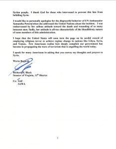Senator Black letter