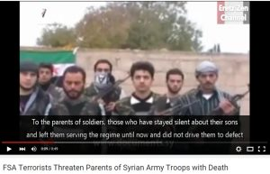 Moderates threatened to murder the parents of Syrian soldiers