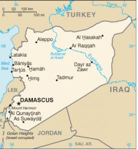 "Deir Ezzor is spelled ""Dyr az Zawr"" in this map"