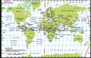 north atlantic latitude longitude map
