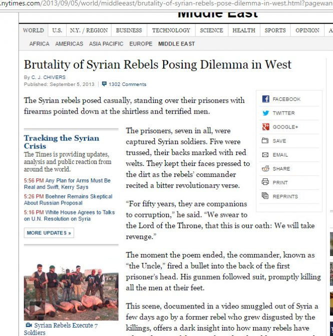 brutality of syrian rebels problematic