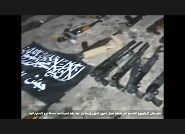 image-Kallasseh Aleppo Terrorists Weapons Warehouses