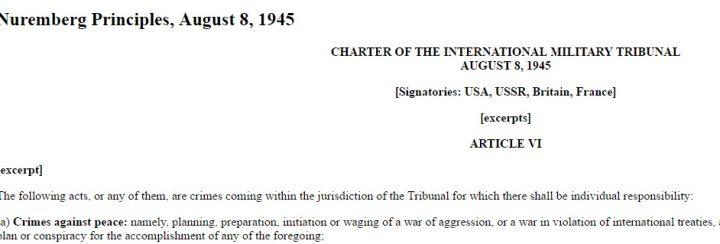 Nuremberg crimes against peace