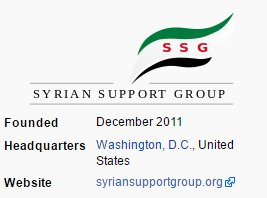 Syrian support group DC based