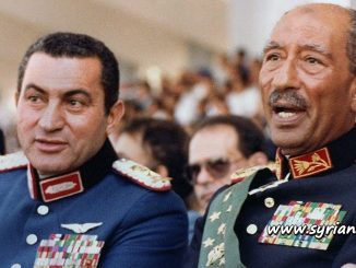 image-Egyptian Traitors Husni Mubarak and Anwar Sadat