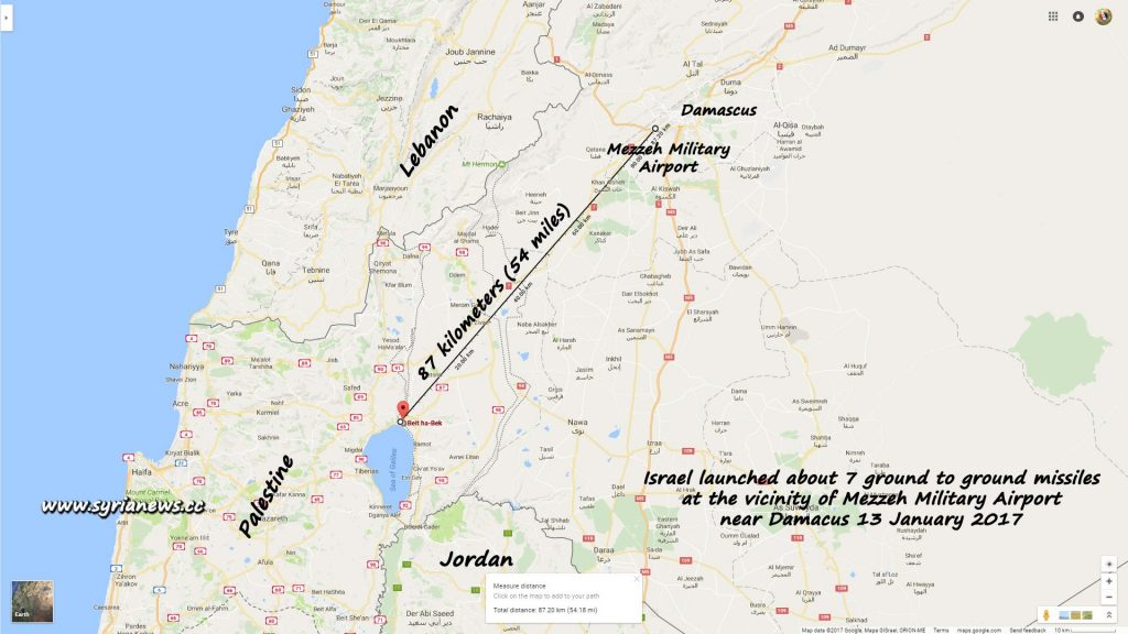 image-Mezzeh Military Airbase Attacked by Israel Raid