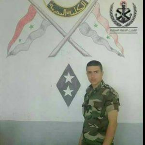 image-Ja'afar Zaid Saleh, newly graduated from Syrian Naval Forces had a few days off.