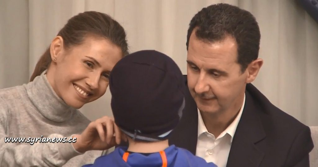 image-Latakia Freed Women and Children with President Assad and First Lady Asma