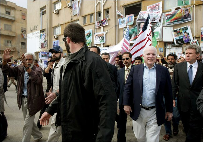 McCain, illegally in Libya, meeting with terrorists. It is not known if Moustafa was his translator then.