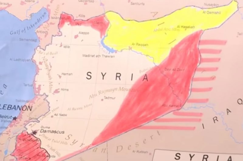 image-Syria Dividing Map - Buffer Zones