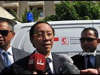 Indonesian Ambassador to Syria Djoko Harjanto Deliver 2 Ambulances to Syrian Red Crescent