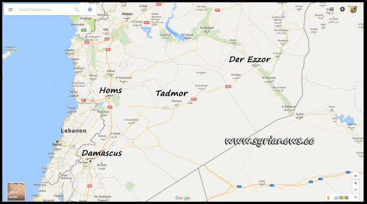 image-Map of Der Ezzor and Homs SAA Operations
