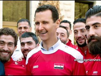 image-President Bashar al-Assad Receives Syrian National Football Team Qasioun Eagles