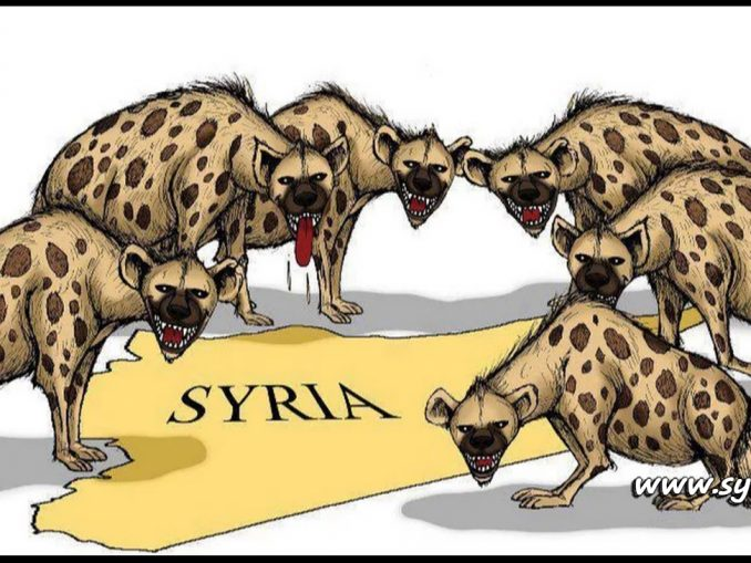 image-Hyenas attacking Syria