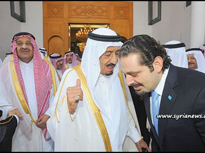 image-Saad Hariri receiving orders from his king