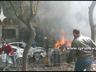image-Terrorists in Eastern Ghouta Bombing Damascus