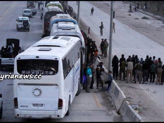 image-SAA Evicts Hundreds of Ahrar Cham Terrorists from Harasta to Idlib