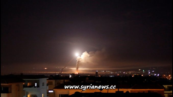 image-SAA Air-Defense Shoots Down Incoming Israel Missiles over Damascus - 09 May 2018