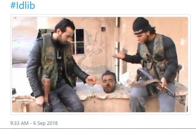 al-Qaeda necrophiliacs in Idlib, supported by the US.
