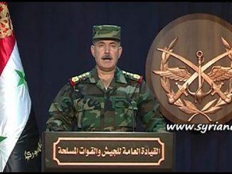 SAA Syrian Arab Army General Command Statement - Sweida ISIS FSA Nusra al-Qaeda