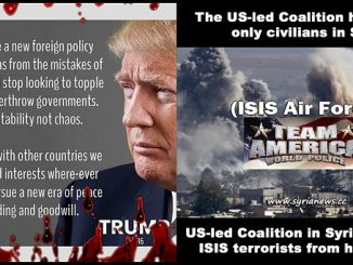 Trump US led Coalition support ISIS murder civilians in Syria