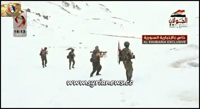 Syrian Arab Army Heroes at the Summit of Mount Hermon Jabal Al Sheikh جبل الشيخ