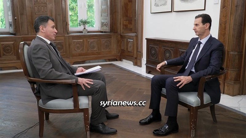President Assad's interview with Chinese channel